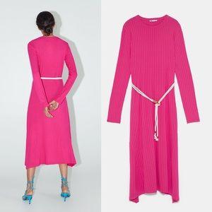 Zara Dresses - ZARA Long Belted Dress